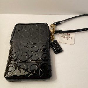 Coach Black Patent Leather Change Purse NWT